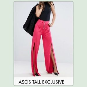 ASOS TALL Hot Pink Wide Legg Pants
